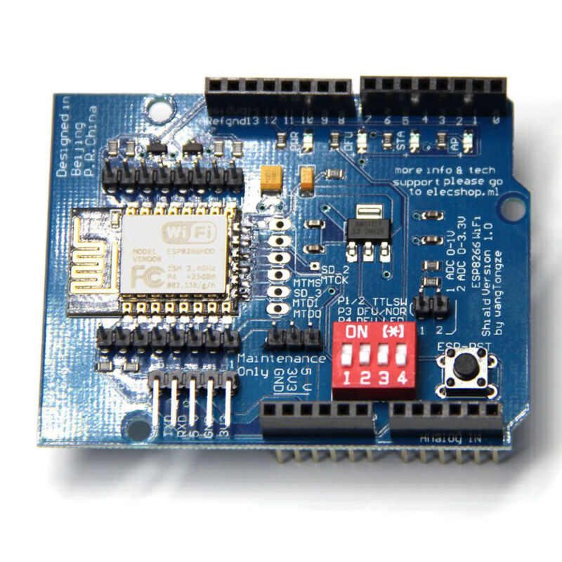 Details about ESP8266 ESP-12E UART Shield Wifi TTL Converter Module for  Arduino UNO R3 Mega