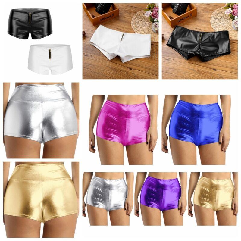 b56238d52 Sexy Women s Wet Look Faux Leather Lingerie Mini Shorts Pants Dance  UnderpantsUSD 2.34