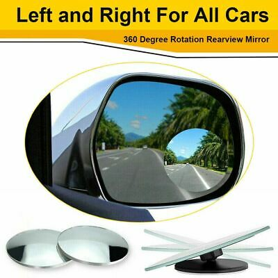 Car Parts - 2 Pack Car Blind Spot Mirror Adjustable Wide Angle 360 Rotation Convex Rear View