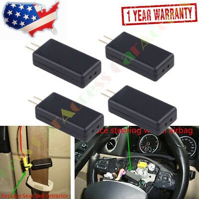 4PCS SRS Airbag Car Simulator Emulator Resistor Bypass Fault Finding Diagnostic