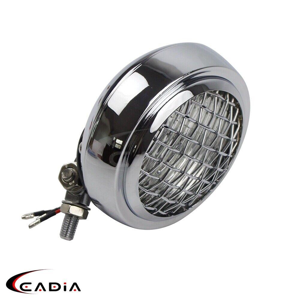 """Chrome 4.5"""" Headlight Lamp for Harley Yamaha V Star 650 ..."""