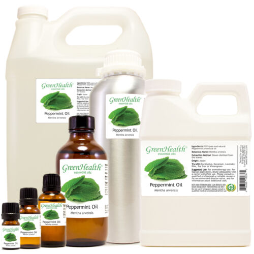 Peppermint Essential Oil Pure Natural Sizes up to 1 Gallon