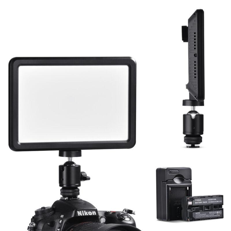 LED Video Light 3000k-6000k + 2200mAh Battery for Digital Camera Camcorder TK202