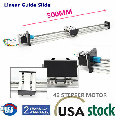 Linear Stage Actuator 500mm Ballscrew Motion Rail Linear Guide Cross Slide Table