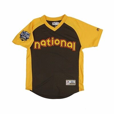 Derby Jersey - MLB All Star MLB Majestic Brown YOUTH 2016 National League Home Run Derby Jersey