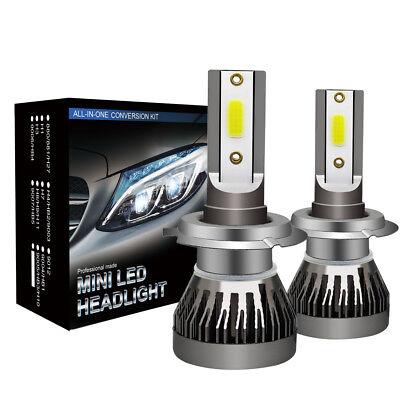 2 x H7 LED Headlight Conversion Kit COB Bulb 110W 30000LM White High Power 6000K