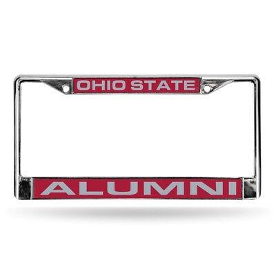 Ohio State Buckeyes NCAA Alumni Chrome Metal Laser Cut License Plate Frame Alumni Chrome Frame