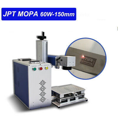 60w Jpt Mopa M7 Fiber Laser Marking Machine 150150mm Lens With 80 Rotary Axis