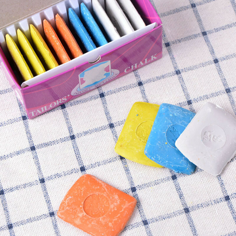 Blue Great for Professional Tailor and Home Tailoring Patchwork Dressmaker Fabric Chalk Tailors Erasable Sewing m/·kvfa Colorful Markers Chalks