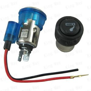 BLUE-Universal-12v-Illuminated-Car-Cigarette-Cigar-Lighter-Accessory-Socket