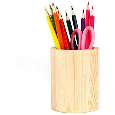 Pen Holder Solid Wood Desk Pencil Stand Multi Purpose Use Cup Pot Organizersk