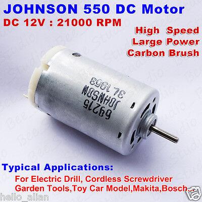Dc 9v 12v 21000rpm High Speed Mini Johnson 550 Dc Motor Diy Drill Electric Tools