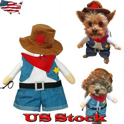 Cat Halloween Pet Dogs Funny Cool Christmas Costume Puppy Clothes Suit Party