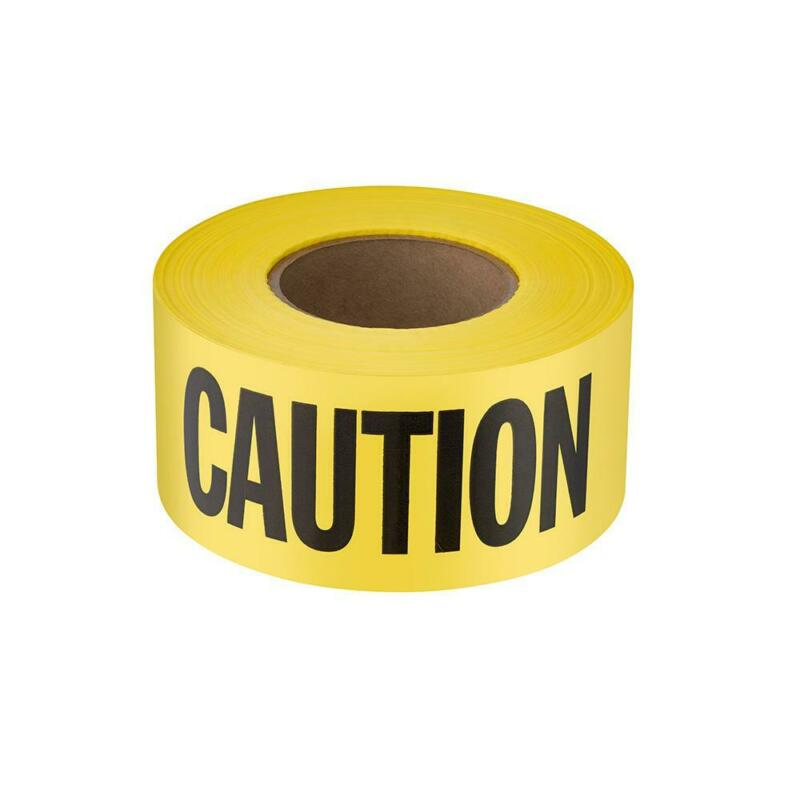 3 in. x 1000 ft. Caution Standard Contractor Grade Yellow Barricade Safety Tape
