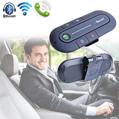 Slim Magnetic Bluetooth Hands free In Car Wireless Speaker Phone Kit Visor Clip
