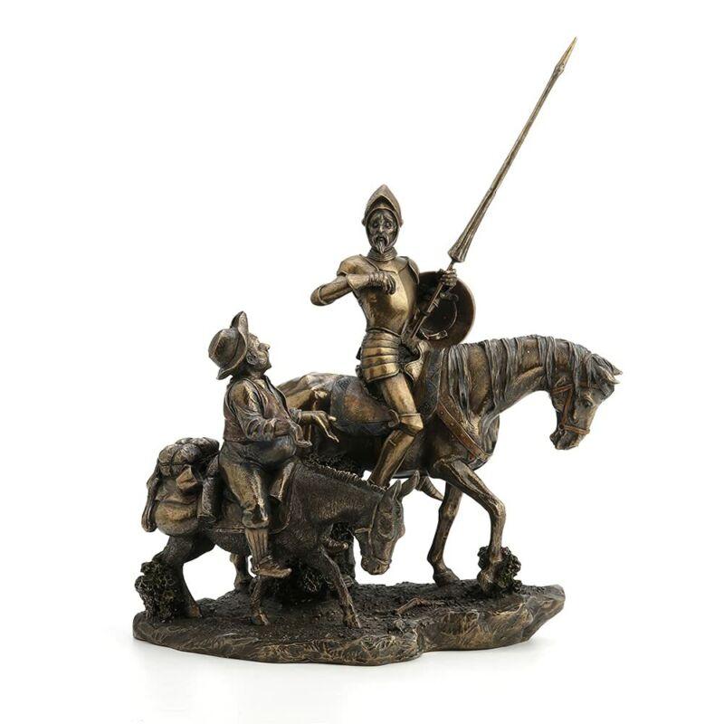 Don Quixote Statue & Sancho Panza Home Decor Art Sculpture Gift Boxed NEW Mancha