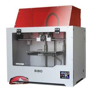 New BIBO 3D Printer Sturdy Frame Dual Extruder Laser Engraving WIFI Touch Screen Cut Printing Time In Half Filament Dete