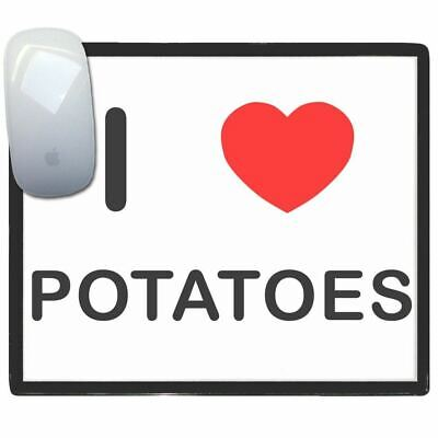 I Love Heart Potatoes - Thin Pictoral Plastic Mouse Pad Mat Badgebeast