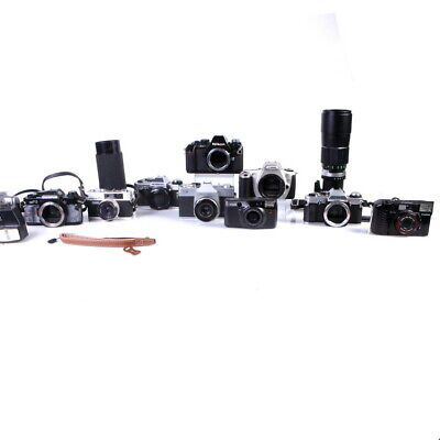 Lot of 35mm SLR & Point and Shoot Cameras and Lens Canon, Nikon, Olympus and more
