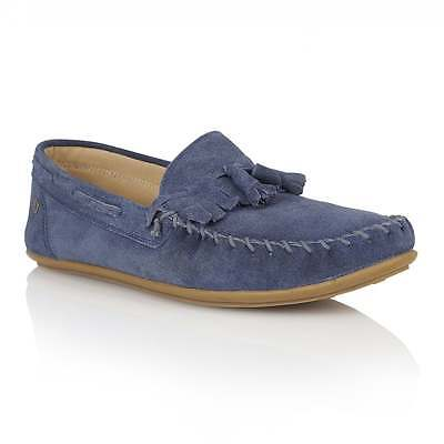 FRANK WRIGHT Nevis Dusty Blue Stitched Suede Loafers rrp £59 UK 9 EU 43 LG03 21