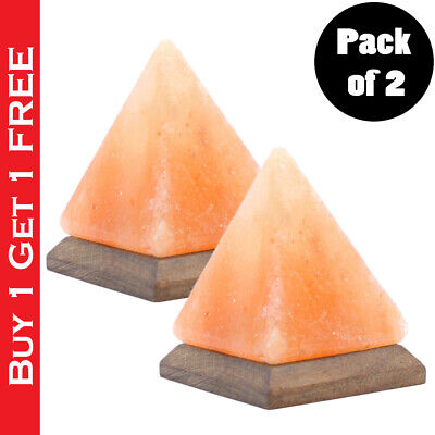 Pack of 2 Himalayan Salt Lamp USB Color Changing LED Glowing Night...
