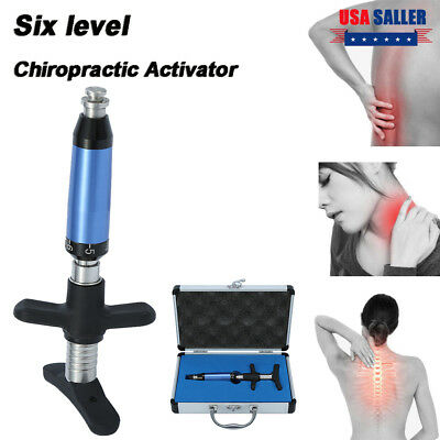 6 Levels Chiropractic Instrument Spine Activator Back Adjusting Tool Xmas Gift