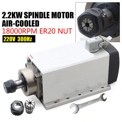 Air Cooled Electric Spindle Motor Er20 For Cnc Router Engraver 18000rpm 300hz
