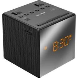 Sony ICF-C1T/BC3 AM/FM Alarm Clock Radio with Mirrored Face Black Free Shipping