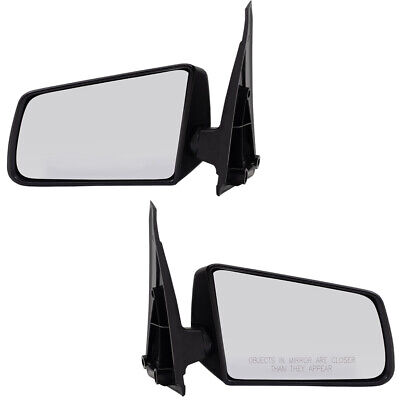 Pair Set Manual Side View Mirrors for S10 S15 Pickup Truck S10 Blazer S15 Jimmy