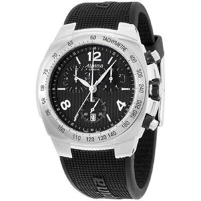 Alpina Avalanche Black Dial Silicone Strap Men's Watch AL350LBBB4A6