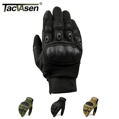Touch Screen Tactical Cycling Motorcycle Combat Hard Knuckle Full Finger Gloves