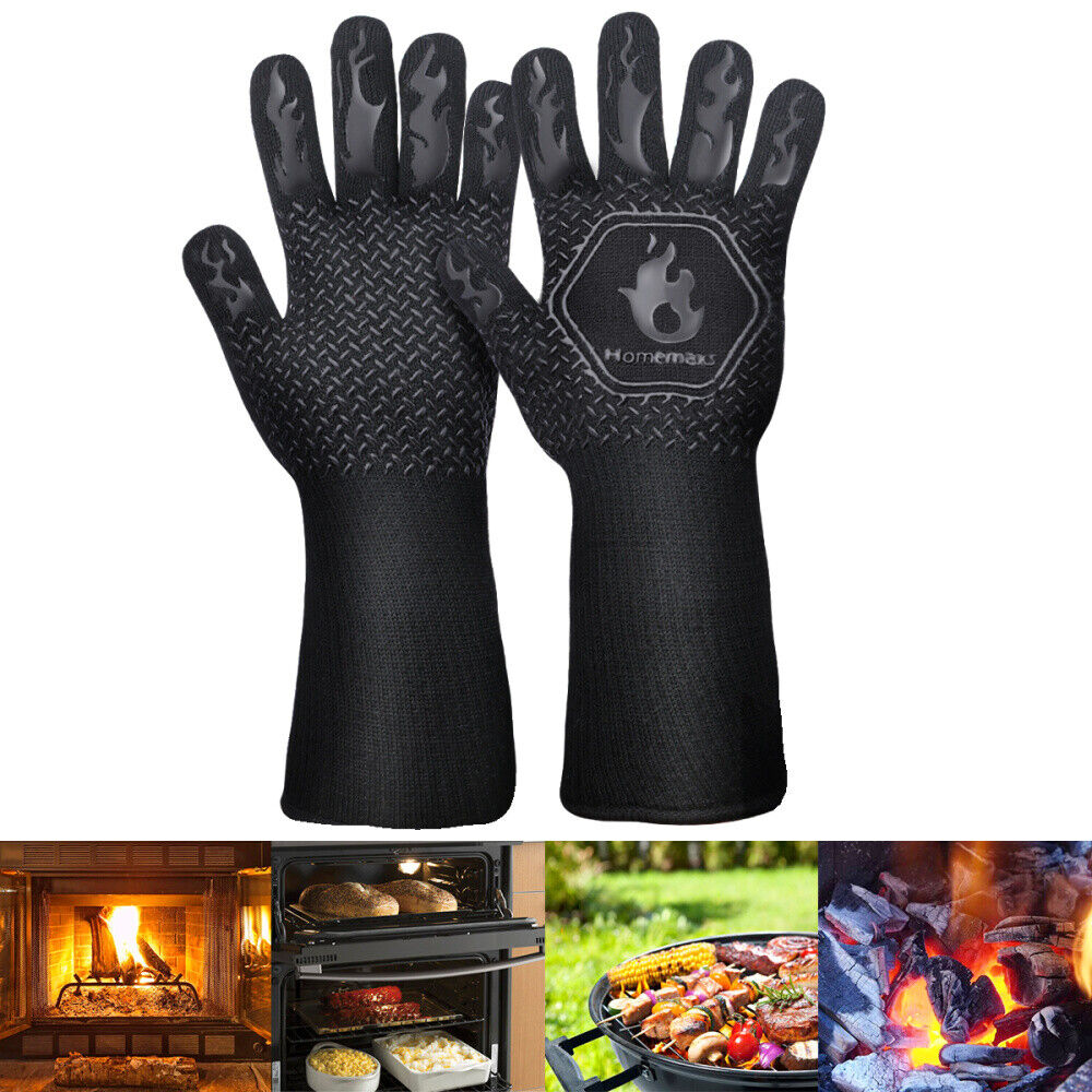 Grillhandschuhe Backhandschuhe BBQ Grill Ofen Handschuh 800°Hitzebeständig 1Paar