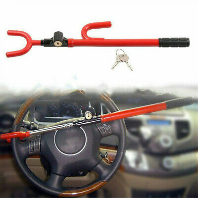 Steering Wheel Lock The Club Twin Hooks Anti Theft Universal Car Van Truck SUV