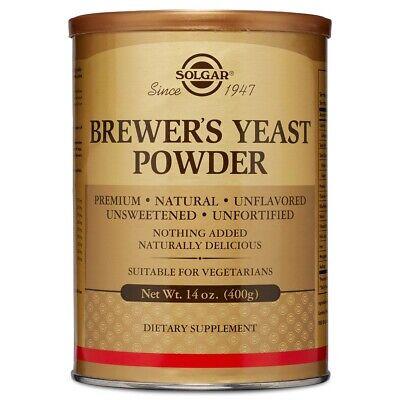 Solgar Brewer's Yeast Powder 14 oz FRESH Made In USA, FREE US SHIPPING