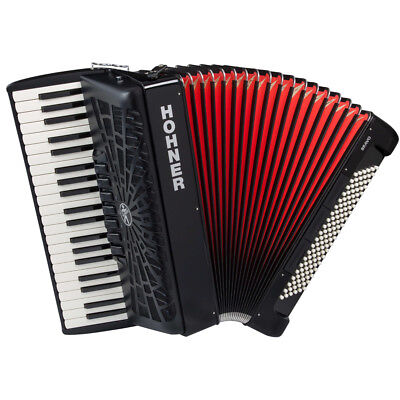 HOHNER BR120B-N BRAVO III SERIES CHROMATIC 120 BASS 41 KEYS ACCORDION BLACK