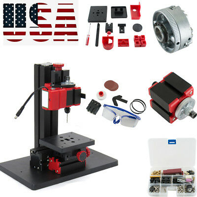 6in1 Multifunction Drilling Sanding Wood-turning Lathe Milling Machine Easy Use