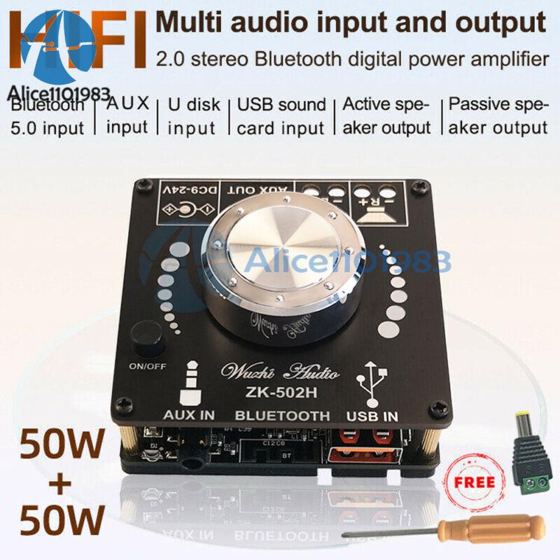 Hifi Bluetooth 5.0 Tpa3116d2 Digital Power Amplifier Board 50wx2 Stereo Amp