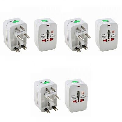 3-Pack International Travel Power Charger Universal Adapter Plug AU/UK/US/E International Power Pack