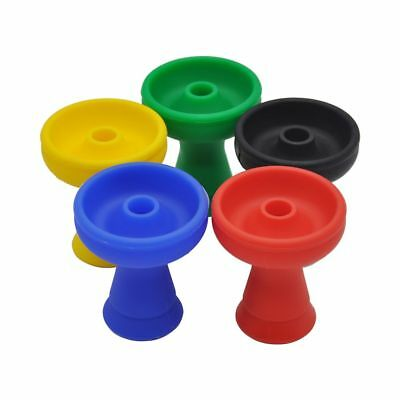 (SILICONE Hookah Head Funnel Bowl Shisha Nargila Glass Water Pipe Accessories)