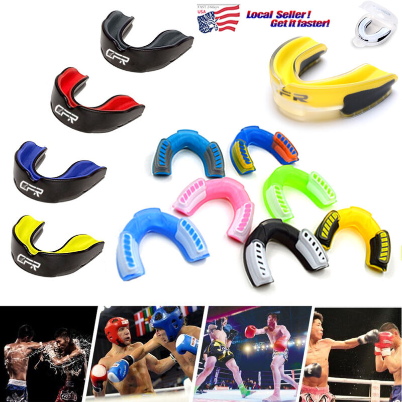 Sports Mouth Guard for Kids/Adults Gel Gum Shield Case Teeth