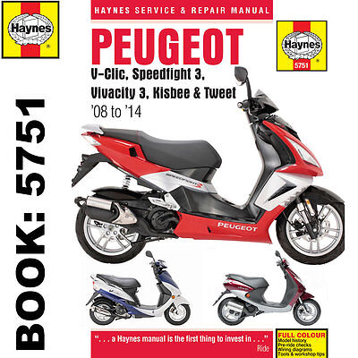 Peugeot V-Clic Speedfight 3 Vivacity 3 2008-14 Haynes Workshop Manual