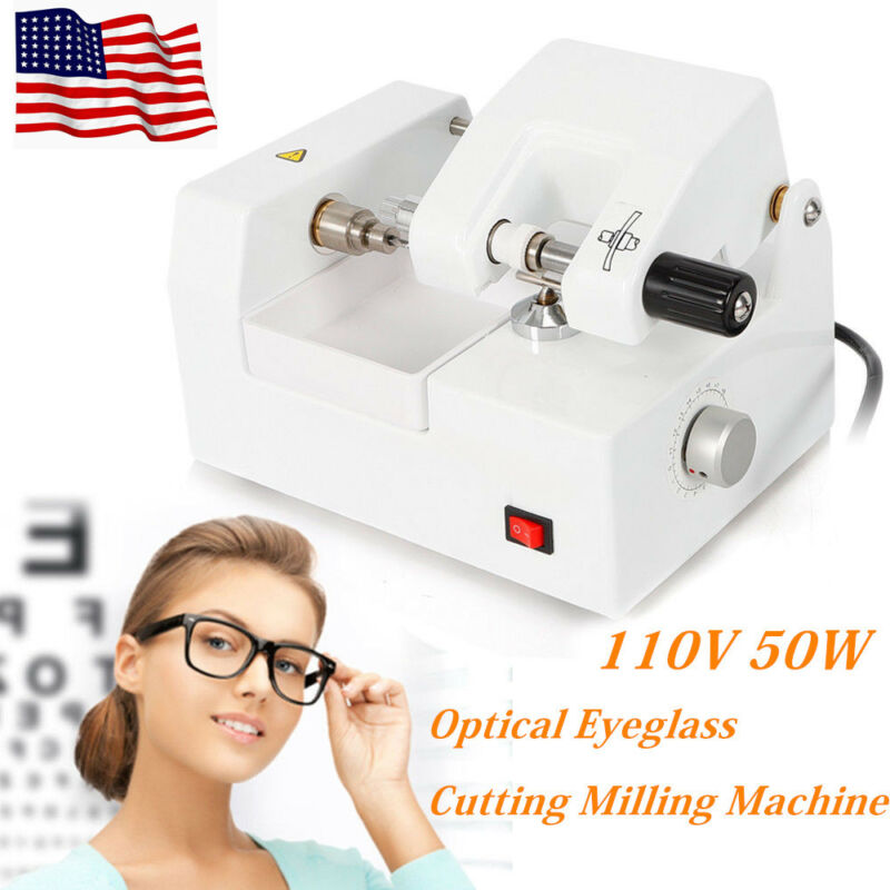 110V Eyeglass Cutting Milling Machine Optical Lens mold Cutter Optometry Equip