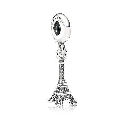 Authentic Pandora Charm Sterling Silver 791082 Eiffel Tower Paris France Charm
