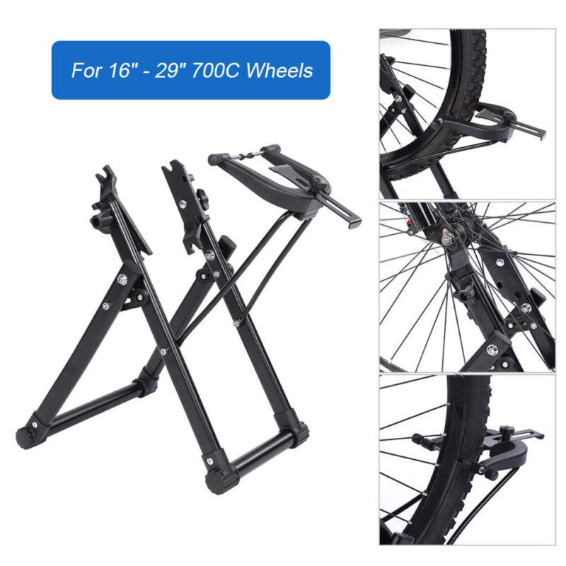 "Foldable Bike Wheel Truing Tire Stand Home Mechanic for 16"" - 29"" 700C Wheels"