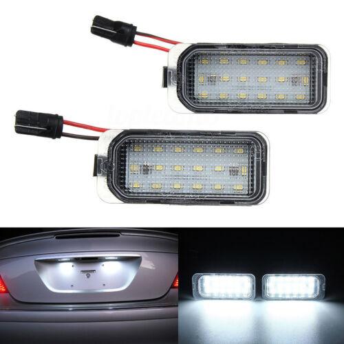 2x White SMD 18 LED License Number Plate Lights Lamp For Jaguar XJ XF Error Free