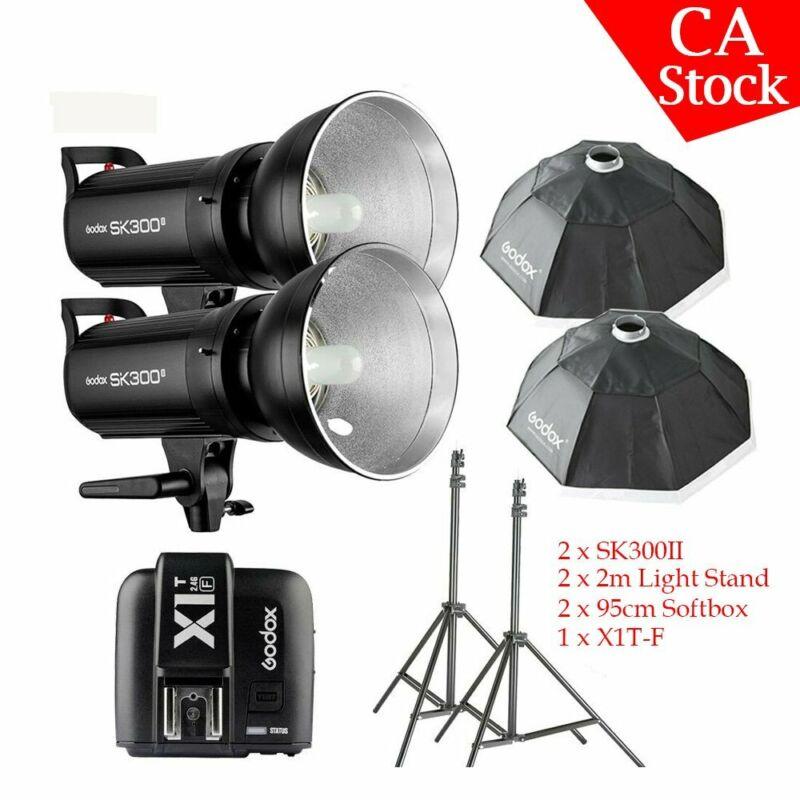 Godox SK300II 300W 2.4G Flash Softbox Studio Light Kit X1T-F Trigger F Fujifilm