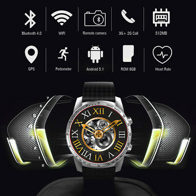 Suffering Watch KW99 Bluetooth GPS 3G WIFI 8GB WristWatch Android 5.1 For Samsung LG