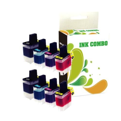 8 pk lc41 ink set for brother