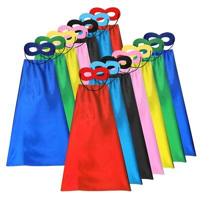 Superhero Capes and Masks Set Kids DIY Dress Up Costume for Parties -