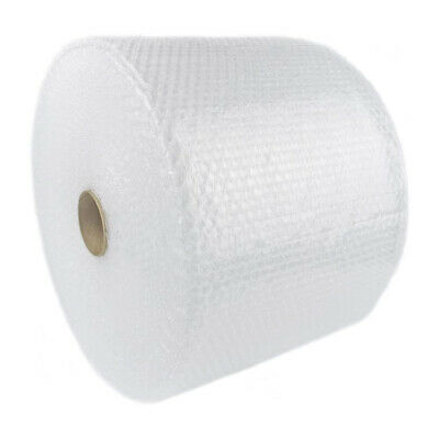 175 Feet Clear Bubble Plastic Packing Wrap Roll 12 Wide Perforated Every 12inch